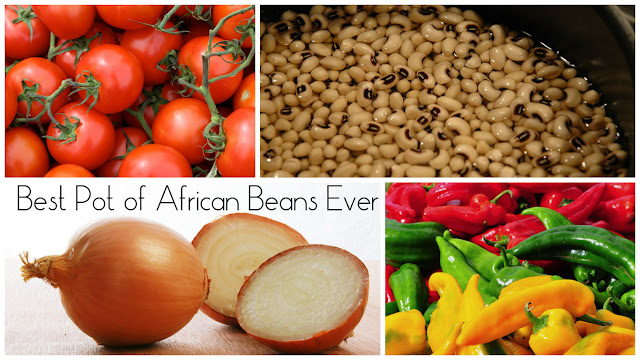 Happy cooking is easy tasty cooking, and in the case of dry beans, taking the easy route makes the best pot of African beans ever made.