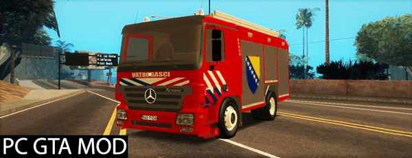 Free Download Mercedes Benz Actros Vatrogasc  Mod for GTA San Andreas.