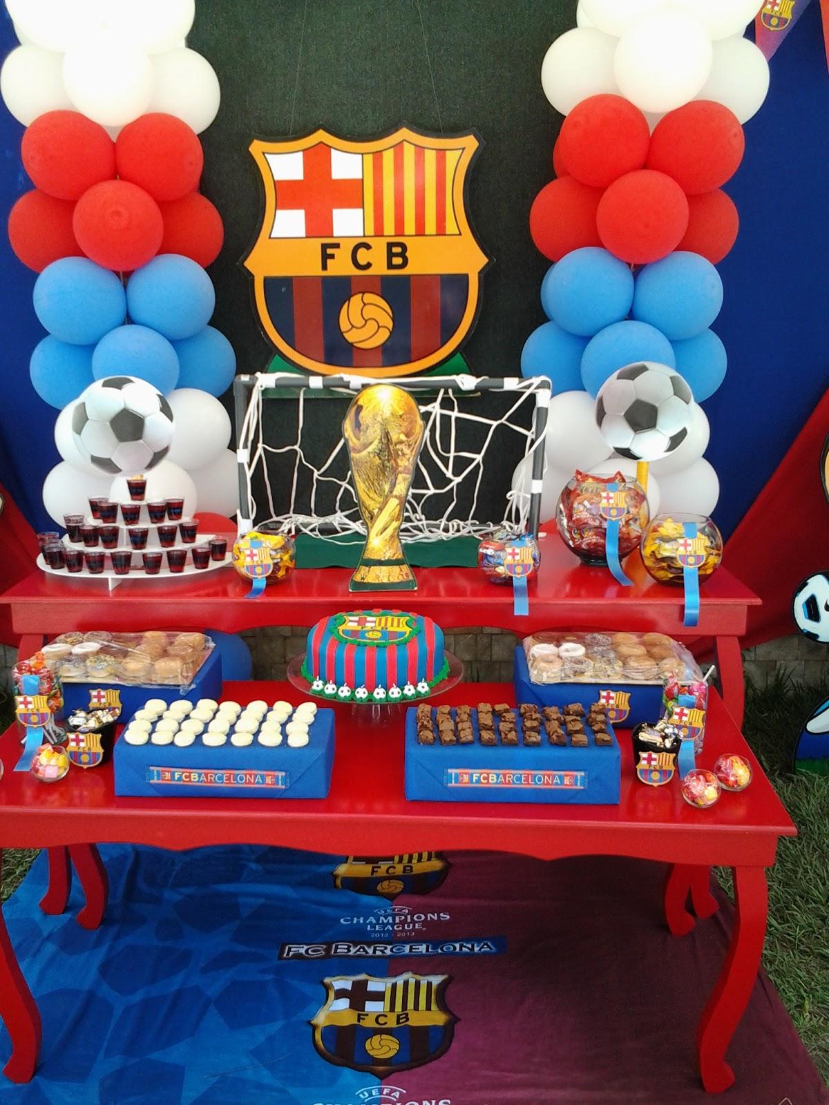 Pkelandia fiesta del fc barcelona cumplea os de andr s for Mesa de centro barcelona