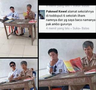 Merokok dan mengangkat kaki di atas meja, Siswa SMA Kurang ajar ini menuai Kecaman dari Natizen - Commando
