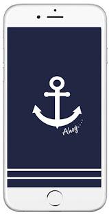 tapeta na telefon marynarski styl kotwica ahoj