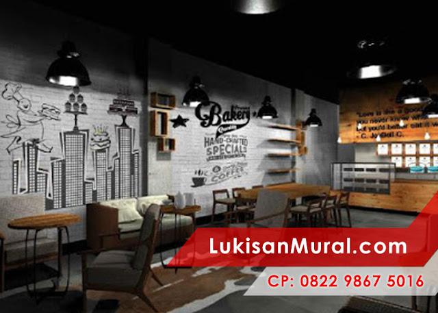 lukisan tembok cafe