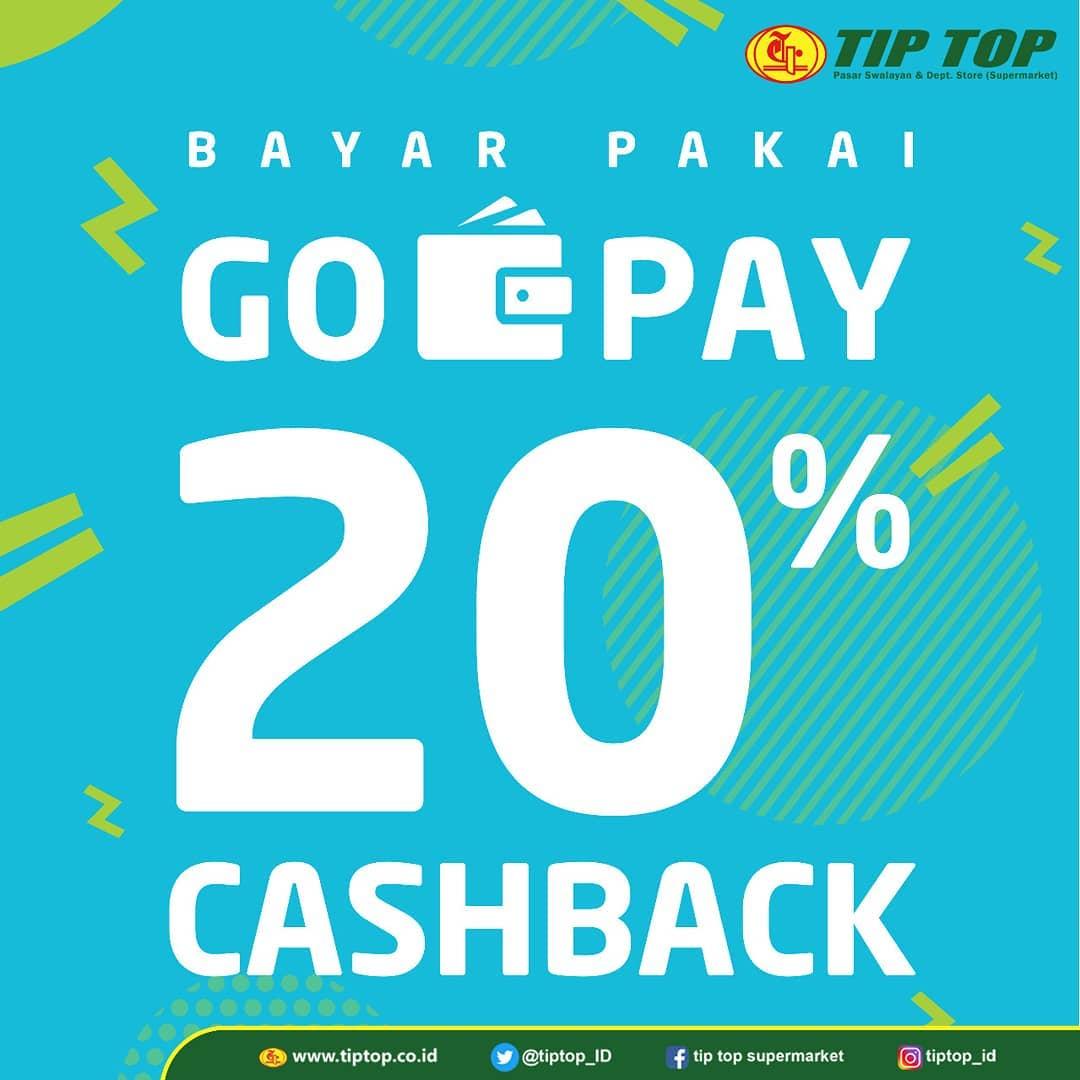 #TipTop - #Promo Cashback 20% Maks 15K Pakai GOPAY (s.d 31 Maret 2019)