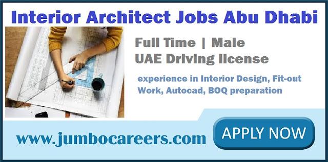 Latest Interior Architect Jobs Abu Dhabi April 2018