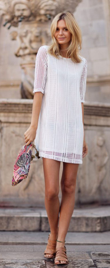 Dress Cute Summer Outfit Ideas #summeroutfits #dresses