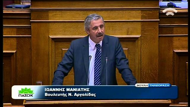 Γ. Μανιάτης: Δεσμεύτηκαν για άμεση επέκταση Αναβάλου σε Φίχτια – Μυκήνες - Μοναστηράκι κι Ερμιονίδα
