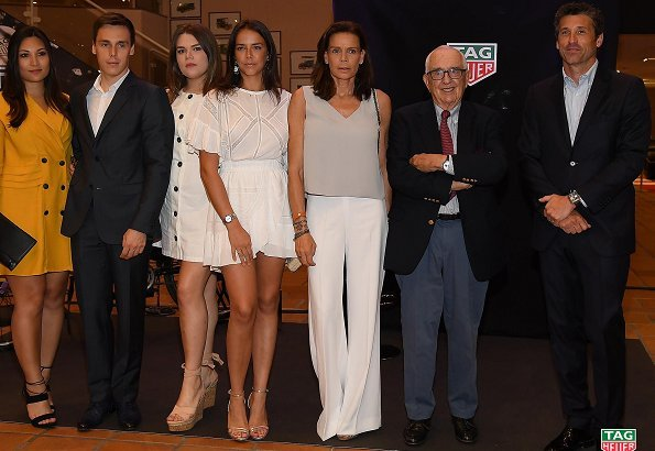 Princess Stéphanie, Camille Gottlieb, Pauline Ducruet, Louis Ducruet and his fiancee Marie Chevallier visited the Monaco Top Cars Collection Museum