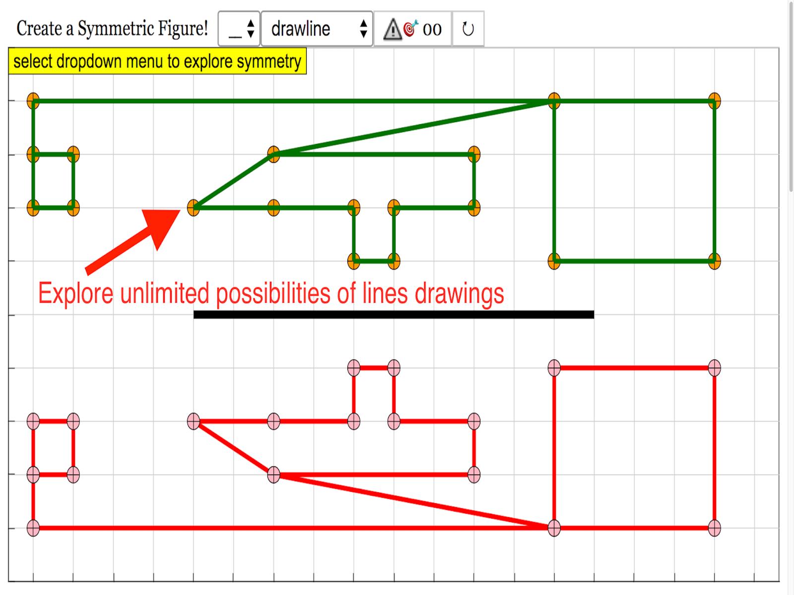 symmetry block and drawing javascript html5 applet simulation model [ 1600 x 1199 Pixel ]