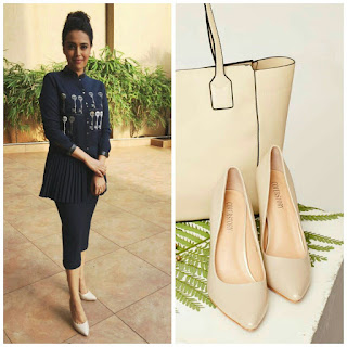 Charming Actress Swara Bhaskar wearing heels from Cover Story for an event