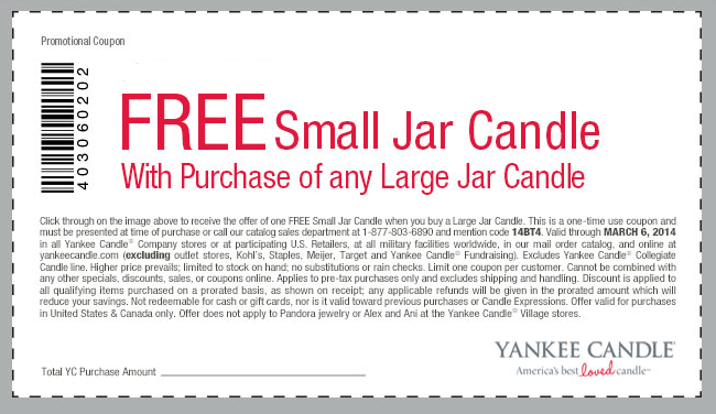 Yankee candle discount coupon