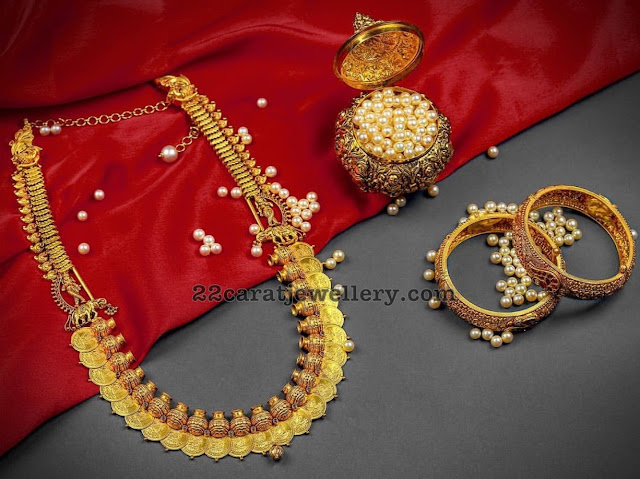 Kasu Haram Designs by Srikrishna Jewellers