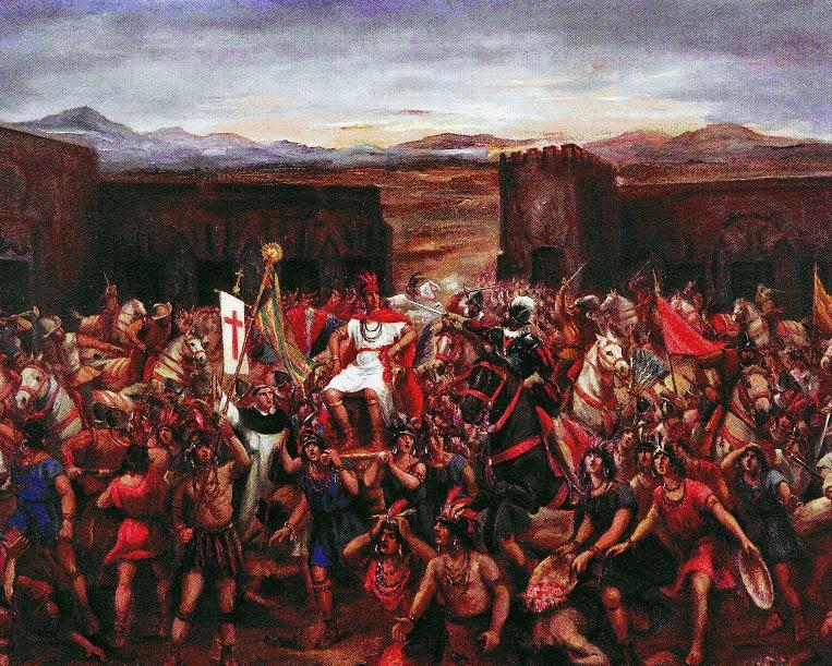 La captura del Inca Atahualpa en Cajamarca