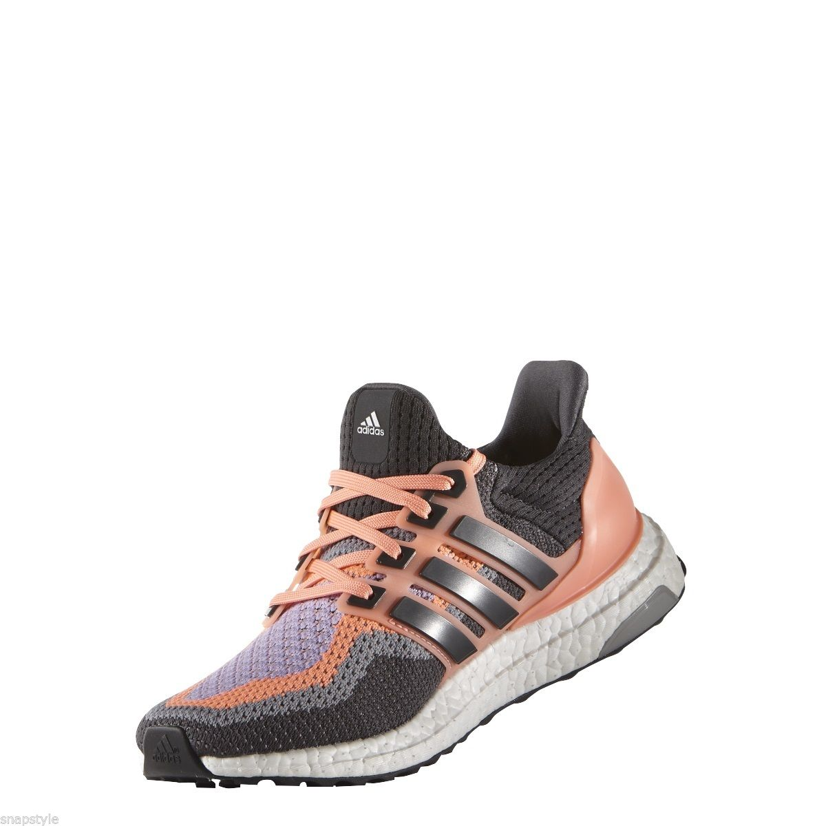 buy online fd3d5 984b0 New Women s ADIDAS Ultra Boost W AQ5166 Black Grey Pink Purple Running  Sneaker