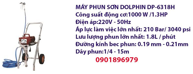 MÁY PHUN SƠN DOLPHIN DP-6318H