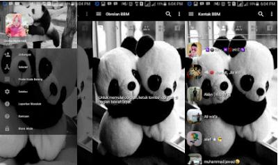 BBM MOD Panda Transparan Lucu v3.2.0.6 APK