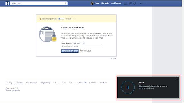 Cara hack Facebook dengan Bitdefender