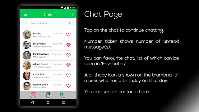 Limechat UI Chat Page