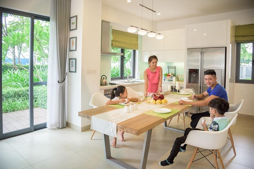 Biệt thự Gamuda được thiết kế thông thoáng, tận dụng tối đa ánh sáng mặt trời.