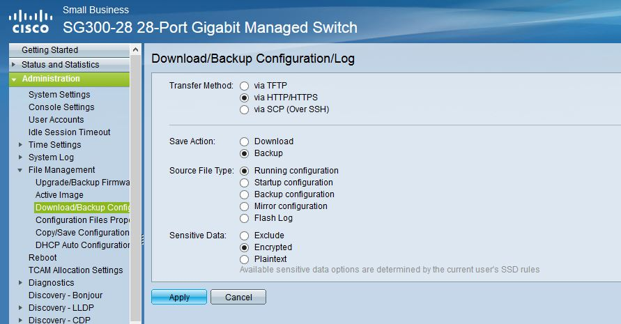 HOW TO DO DIFFICULT: Backup and Restore in cisco sg300