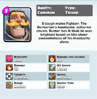 clash royale game knight card