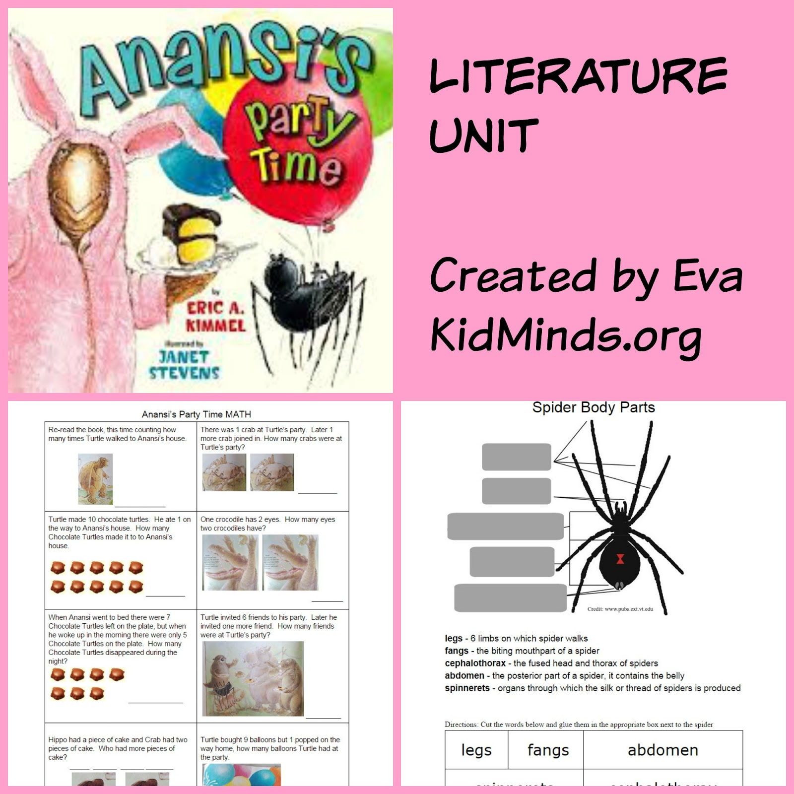 picture about Printable Anansi Stories called Anansis Get together Period - Literature Gadget - KidMinds