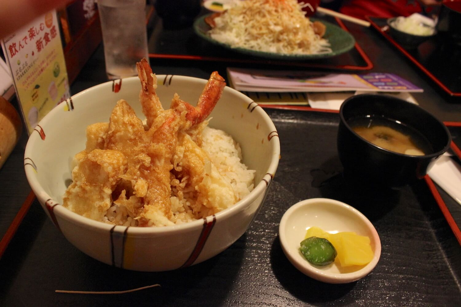 sapporo food tempura set with prawn and miso