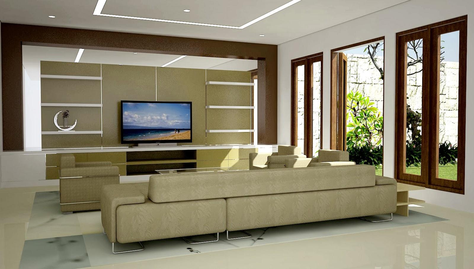 Desain Rumah Ruang Tamu Luas Wallpaper Dinding