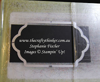 #cardmaking, #stampinup, #thecraftythinker, changing the length of a die cut label, Lots of Labels, Stampin' Up Australia Demonstrator, Stephanie Fischer