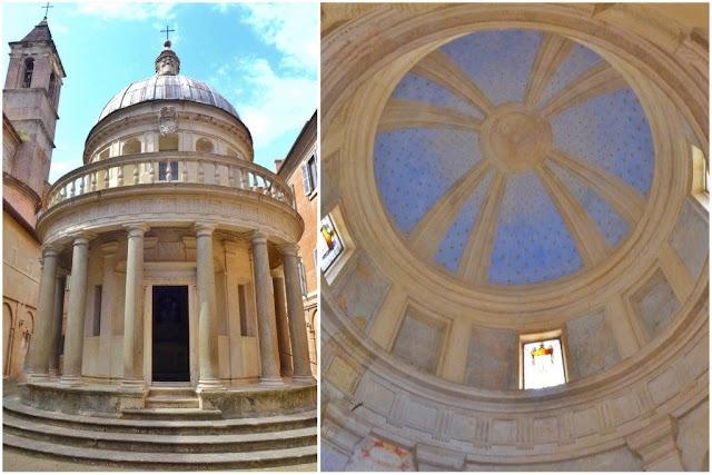 Tempietto de Bramante y su bóveda en el Gianicolo en Roma