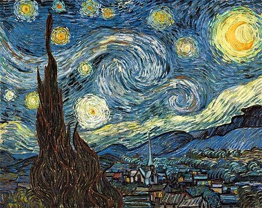Cuadro la noche estrellada. Rembradt y Van Gogh el arte en Amsterdam