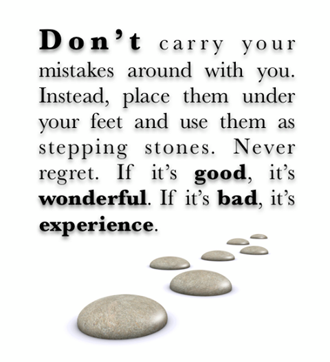 Amazing Pics, Quotes And Fun: Don't Carry Your Mistakes