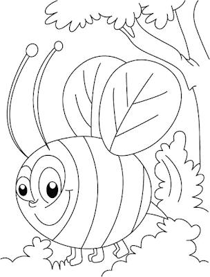 Gambar Mewarnai Lebah - 8