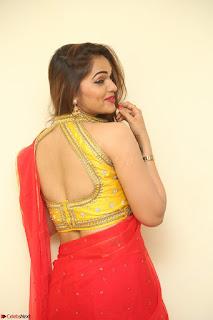 Actress Ashwini in Golden choli Red saree Spicy Pics ~  085.JPG
