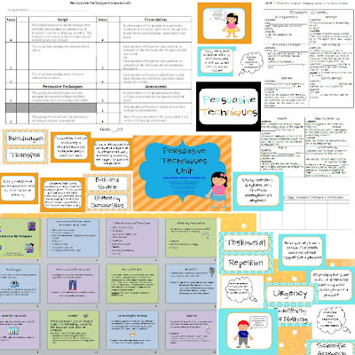 Identifying Persuasive Techniques Worksheets