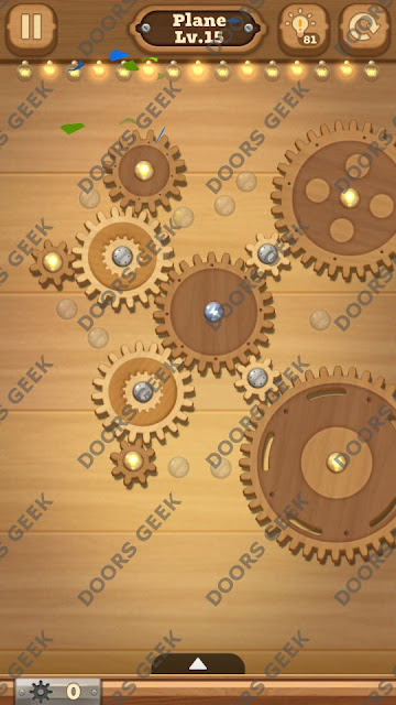 Fix it: Gear Puzzle [Plane] Level 15 Solution, Cheats, Walkthrough for Android, iPhone, iPad and iPod