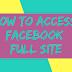 Facebook Full Site Desktop