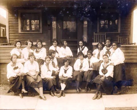 1931 photo of students at St. Mark's Academic school