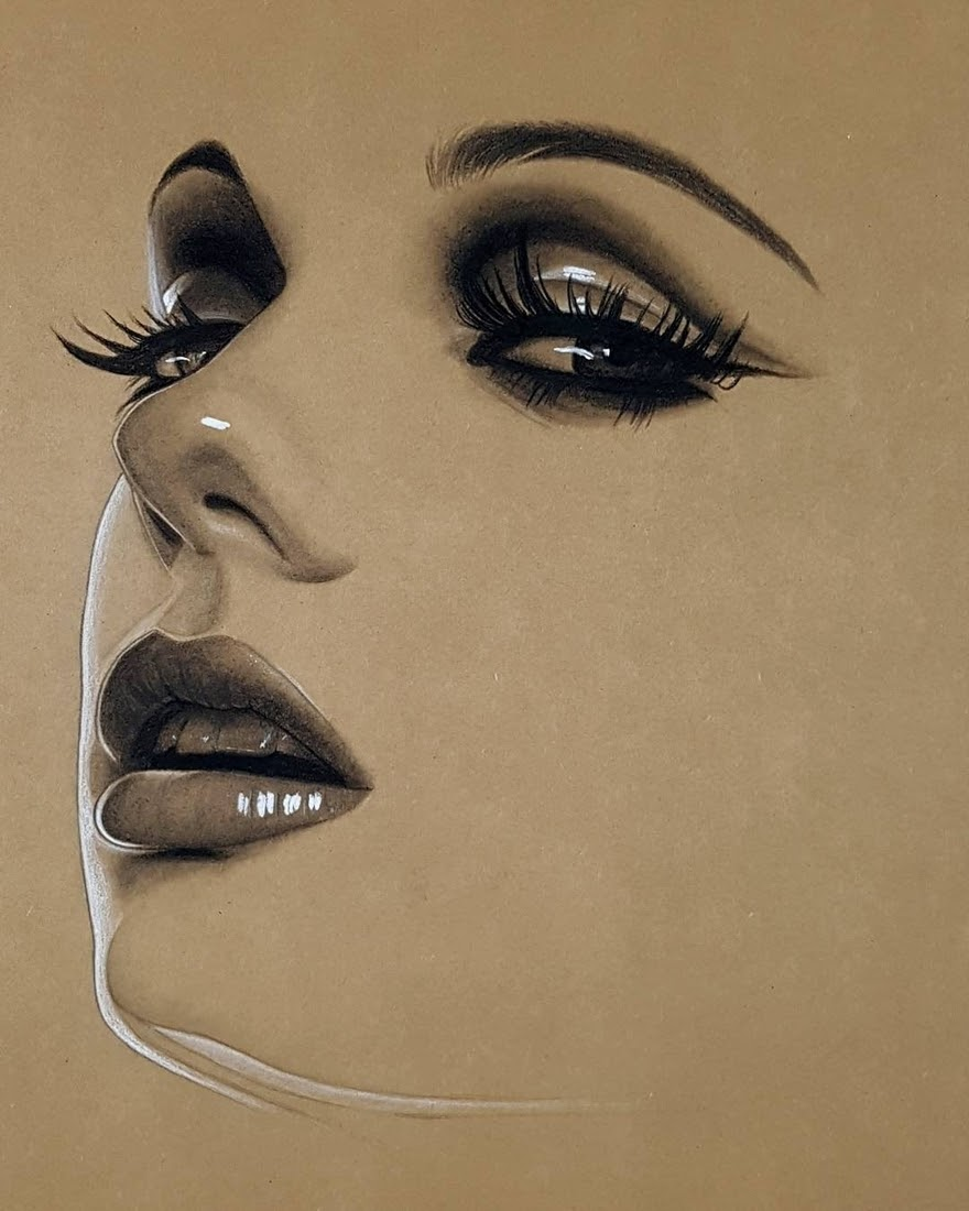 03-Husam-Waleed-Minimalist-Realistic-and-Stylized-Charcoal-Portraits-www-designstack-co