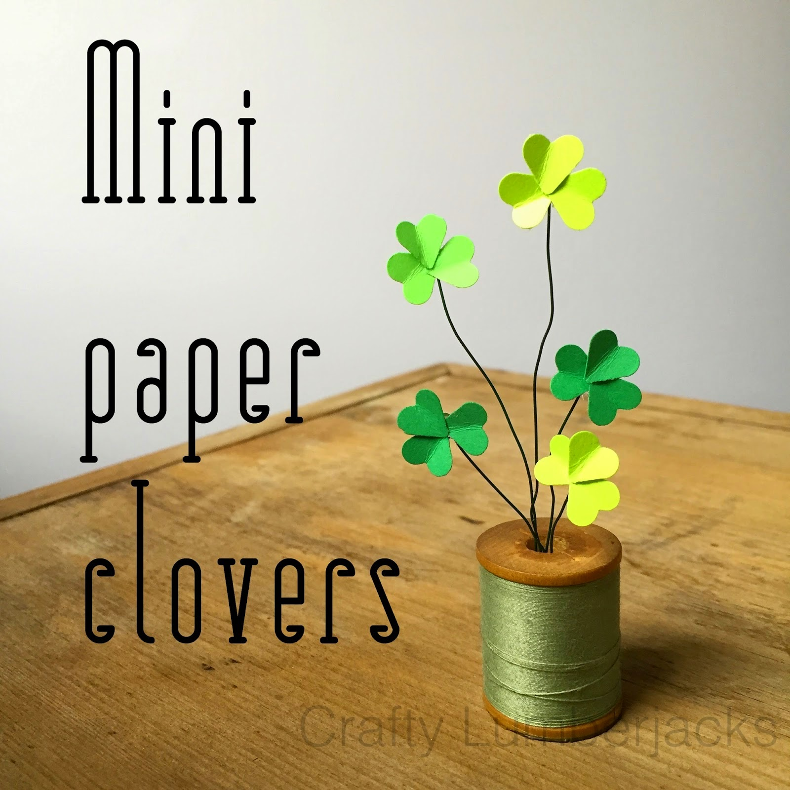 mini paper clovers st. Patrick's Day