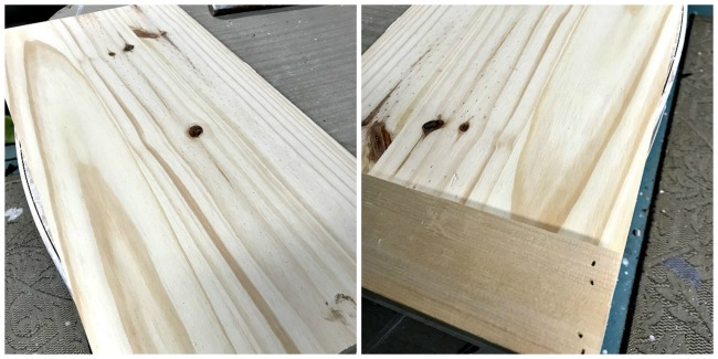 pine wood board tray DIY