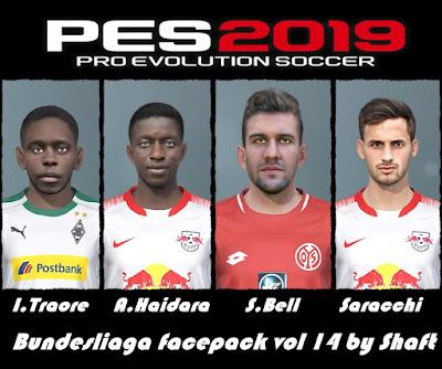 PES 2019 Bundesliga Facepack Vol 14 by Shaft