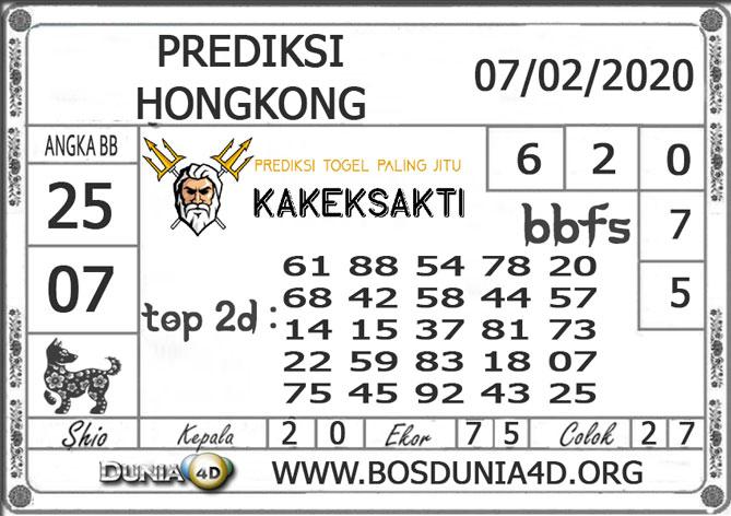 Prediksi Togel HONGKONG DUNIA4D 07  FEBRUARI 2020