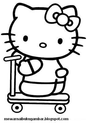Mewarnai Gambar Hello Kitty Mewarnai Gambar