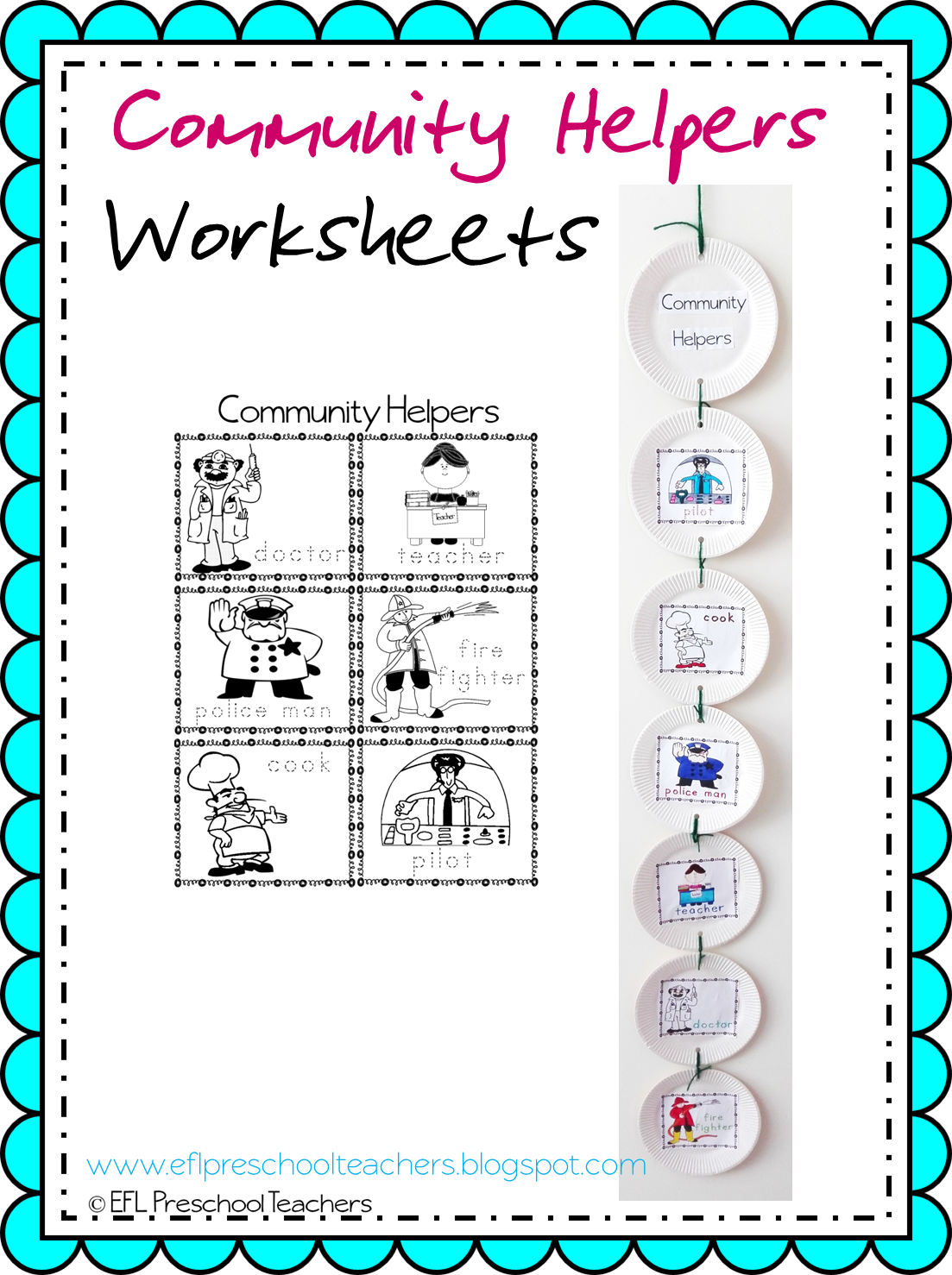 Esl Efl Preschool Teachers Community Helpers Worksheets And More