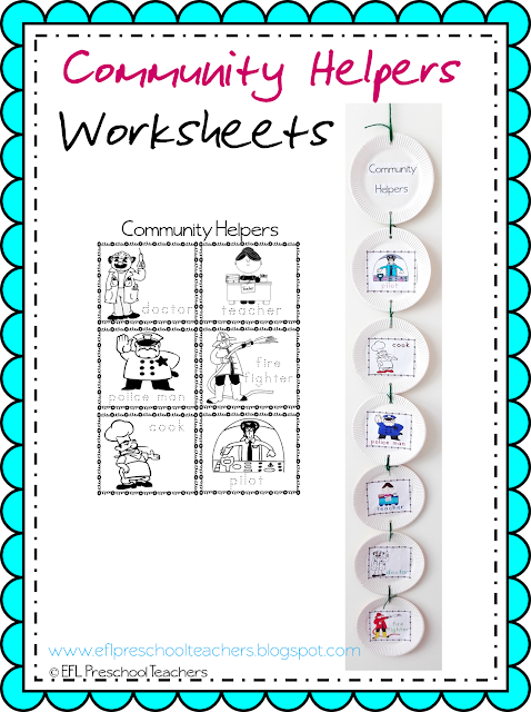 Community Helpers Worksheets : Esl efl preschool teachers community helpers worksheets