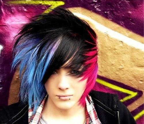 cute emo boys hairstyles
