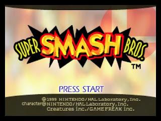 Captura con la pantalla de título de SMB para N64