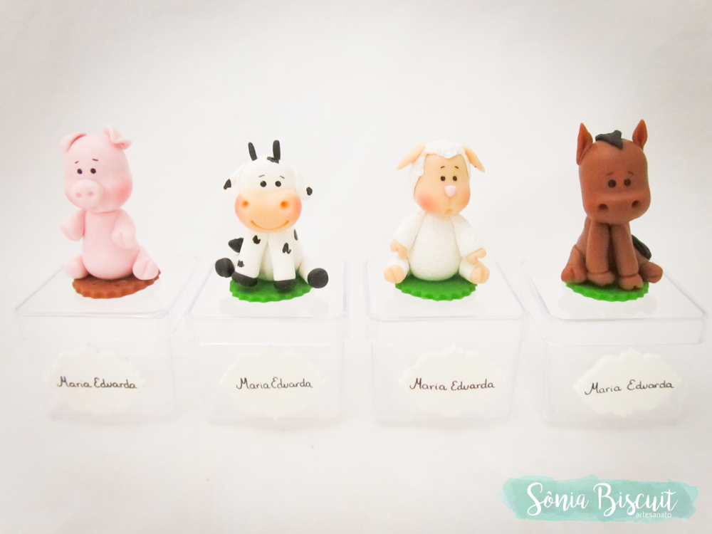 Topo de Bolo, Biscuit, Lembrancinha, Fazendinha, Menininha, Menina, Cavalo, Porto, Pato, Galinha, Vaca, Ovelha