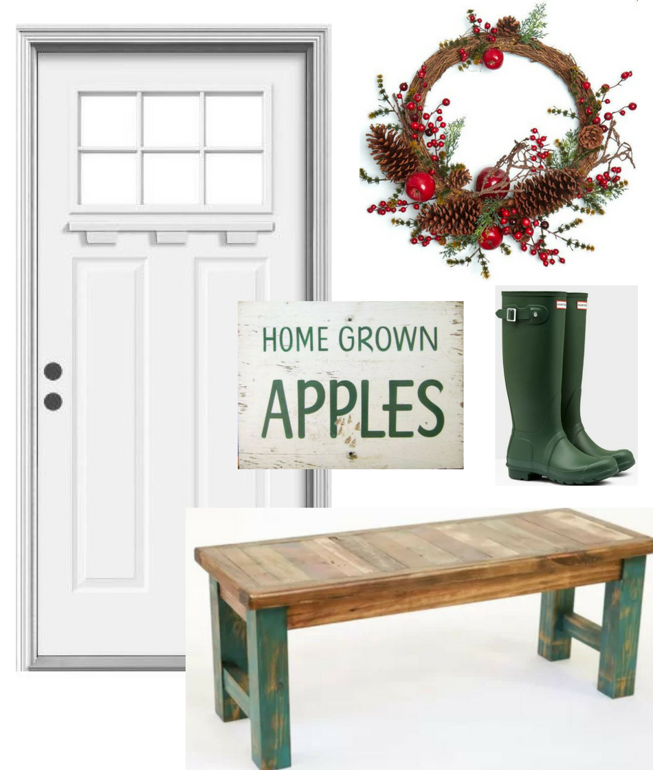 fall decor ideas for white front door