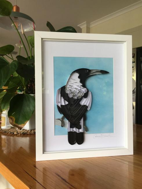 Australian Magpie Framed Paper Art